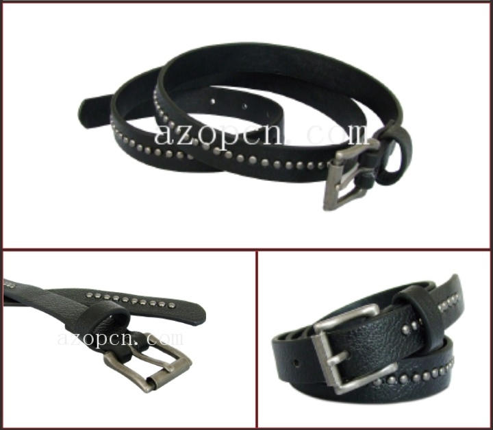 Black Stud PU Belt for Lady