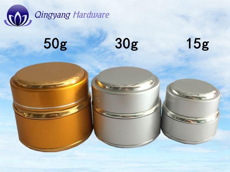 30g Cosmetic Cream Glass Jar with Aluminum-Plastic Caps