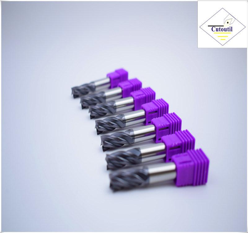 Cutoutil  4 Teeth 35° Helix Cut Steel D10 25*75*10 Solid Carbide End Mills Tools
