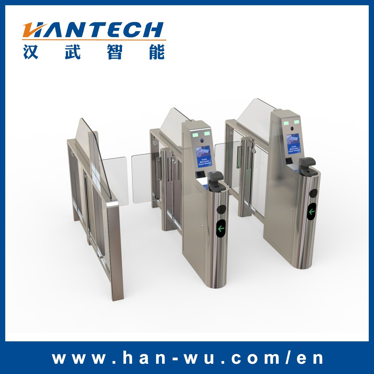 Passport Scanning Swing Barrier Gate for Airport Security