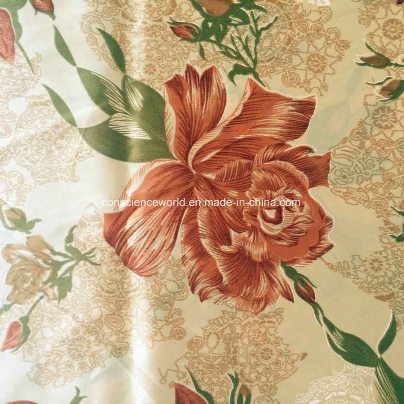 100%Polyester Disperse Printed Satin for Quilt Cover 90GSM