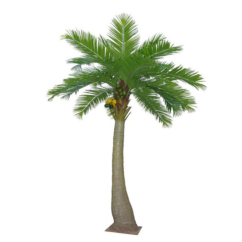 Garden Home Decoration Wholesale Plastic Outdoor Artificial Coconut Palm Tree