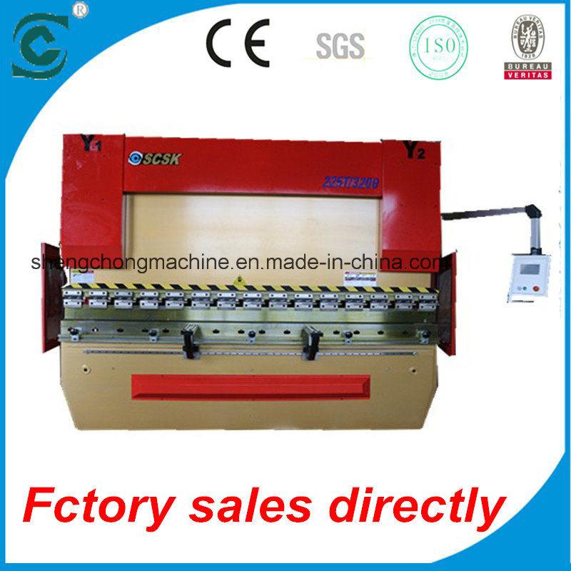Electro Hydraulic Servo CNC Synchronized Press Brake with Da52s System 225t/3200