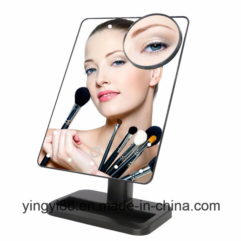 High Quality LED Makeup Mirror Tabletop Lighted Cosmetic Vanity Mirrors