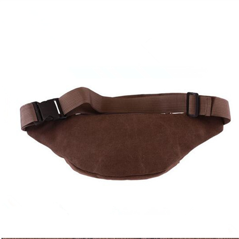 Casual Sports Bag Zipper Pocket Soft Canvas Waist Bag (GB#701)