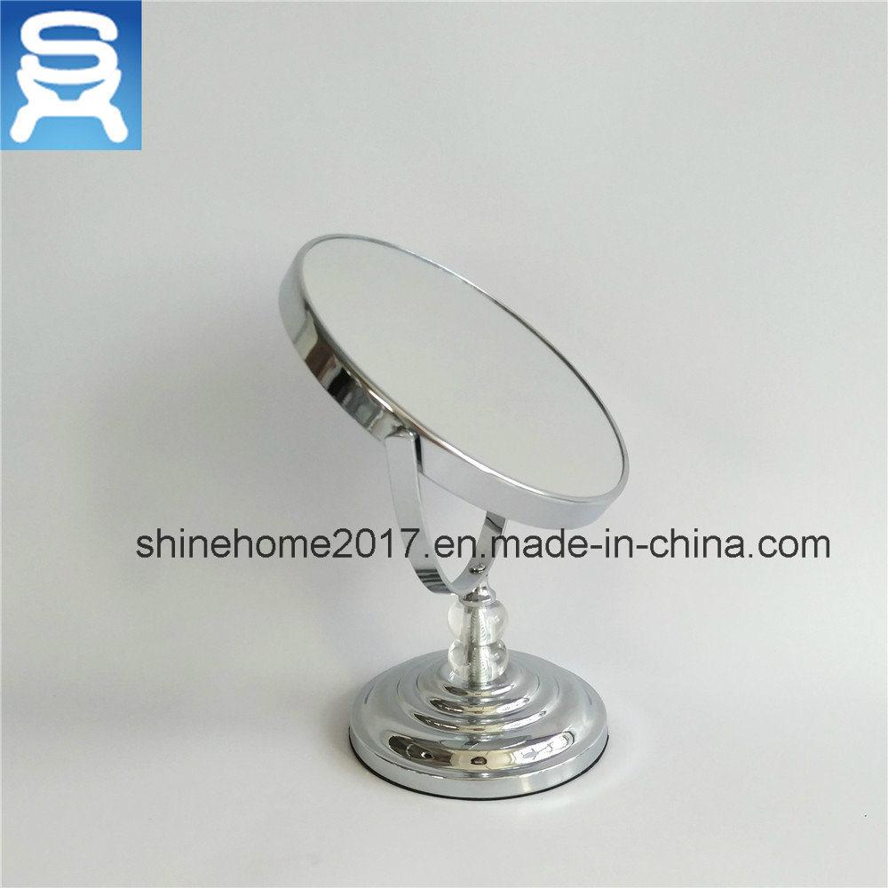 Bathroom Metal Standing Vanity Mirror with Magnifier