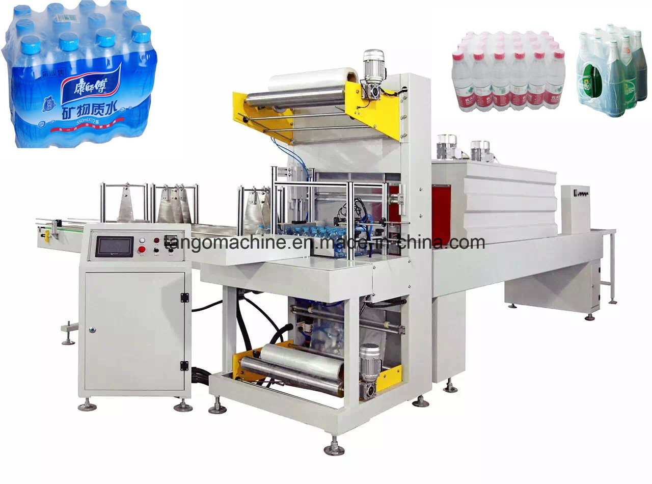 10pack/M Automatic PE Film Combine Heat Shrink Wrapping Bottle Packing Wrapper Machine for 500ml Water Bottles