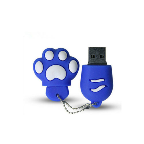 Cat′s Paw USB Creative Personality Silicone Mini USB Flash Drive Customized Logo 256GB