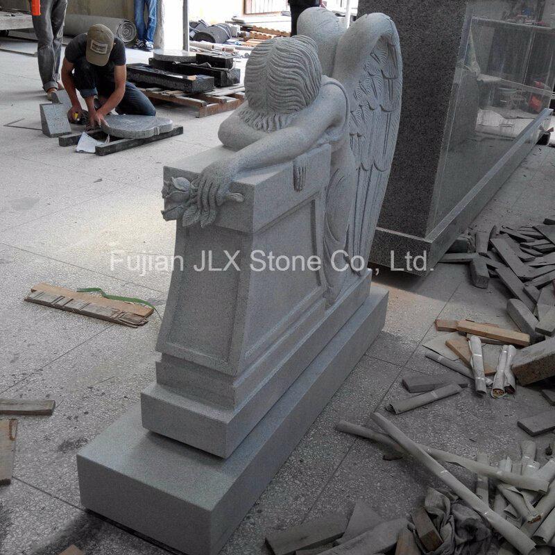 American Carved Weeping Angel Design Granite Monument
