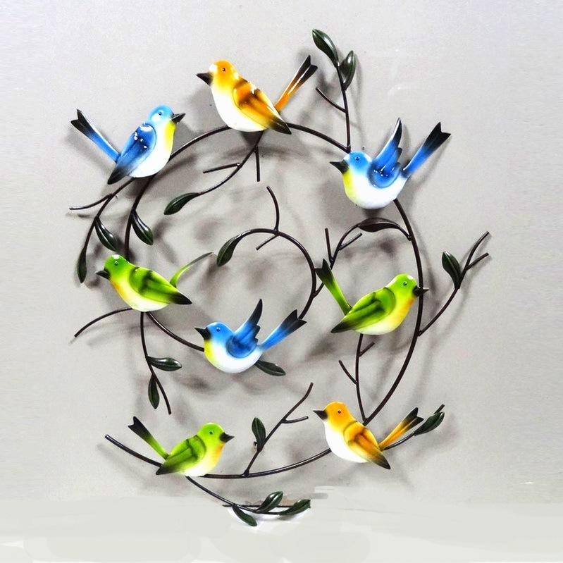 Metal Handmade Bird Wall Decoration for Home and Garden