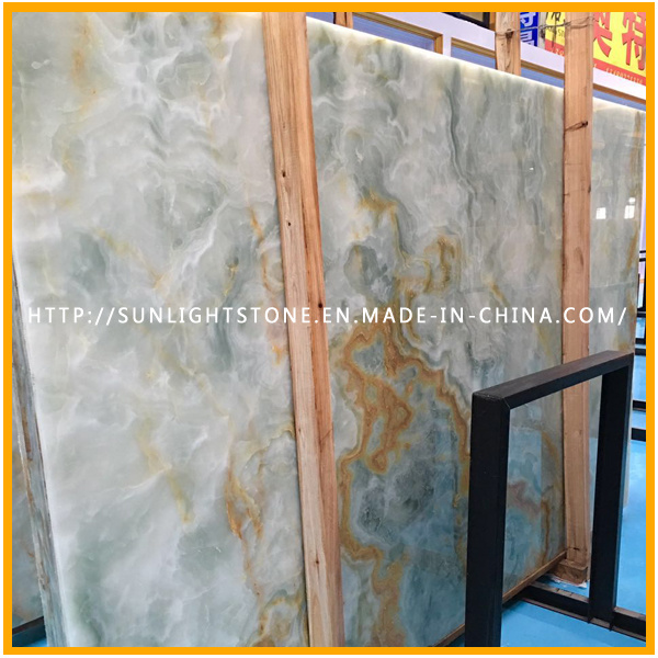 White Wooden Vein/Yellow Onxy for Floor & Wall