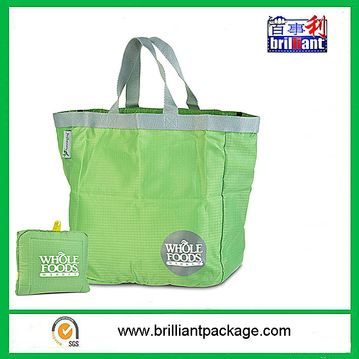 Foldable shopping Bag folding bag 190t Polyester promotional bag