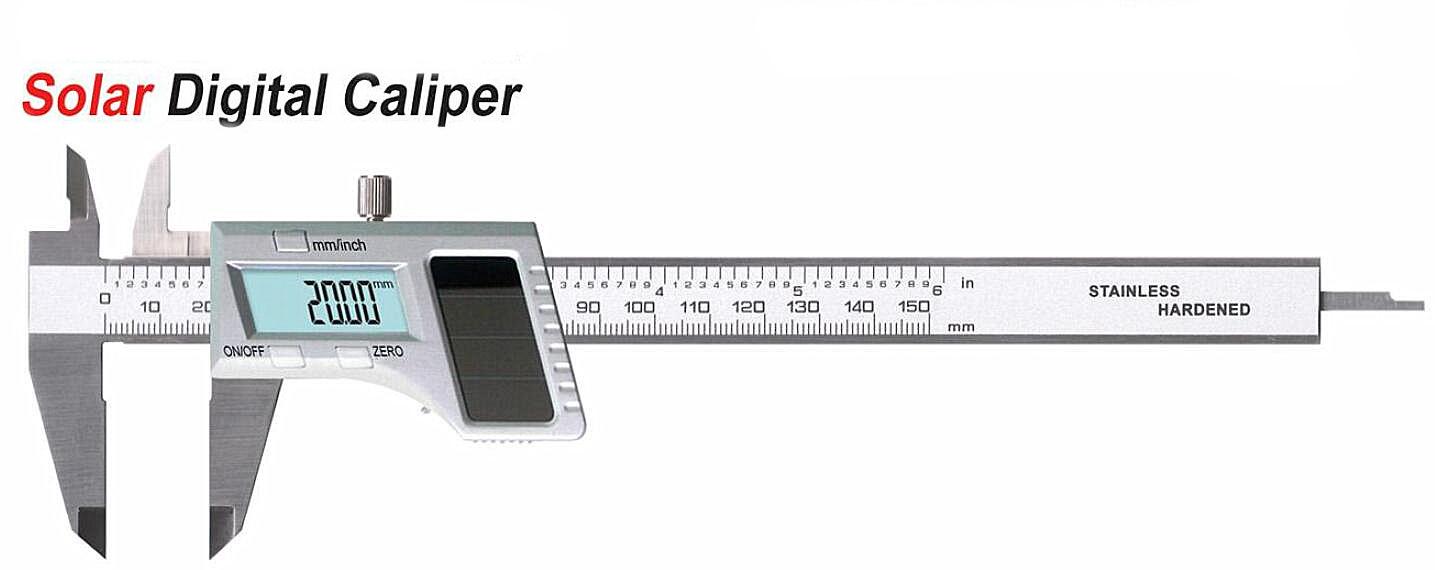"""High Quality Solar Digital Caliper 150mm/6"""""""