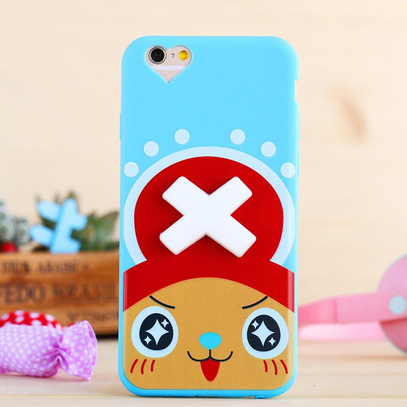 Custom 3D Silicon Cute Animal Cartoon Cell Phone Case for iPhone 6