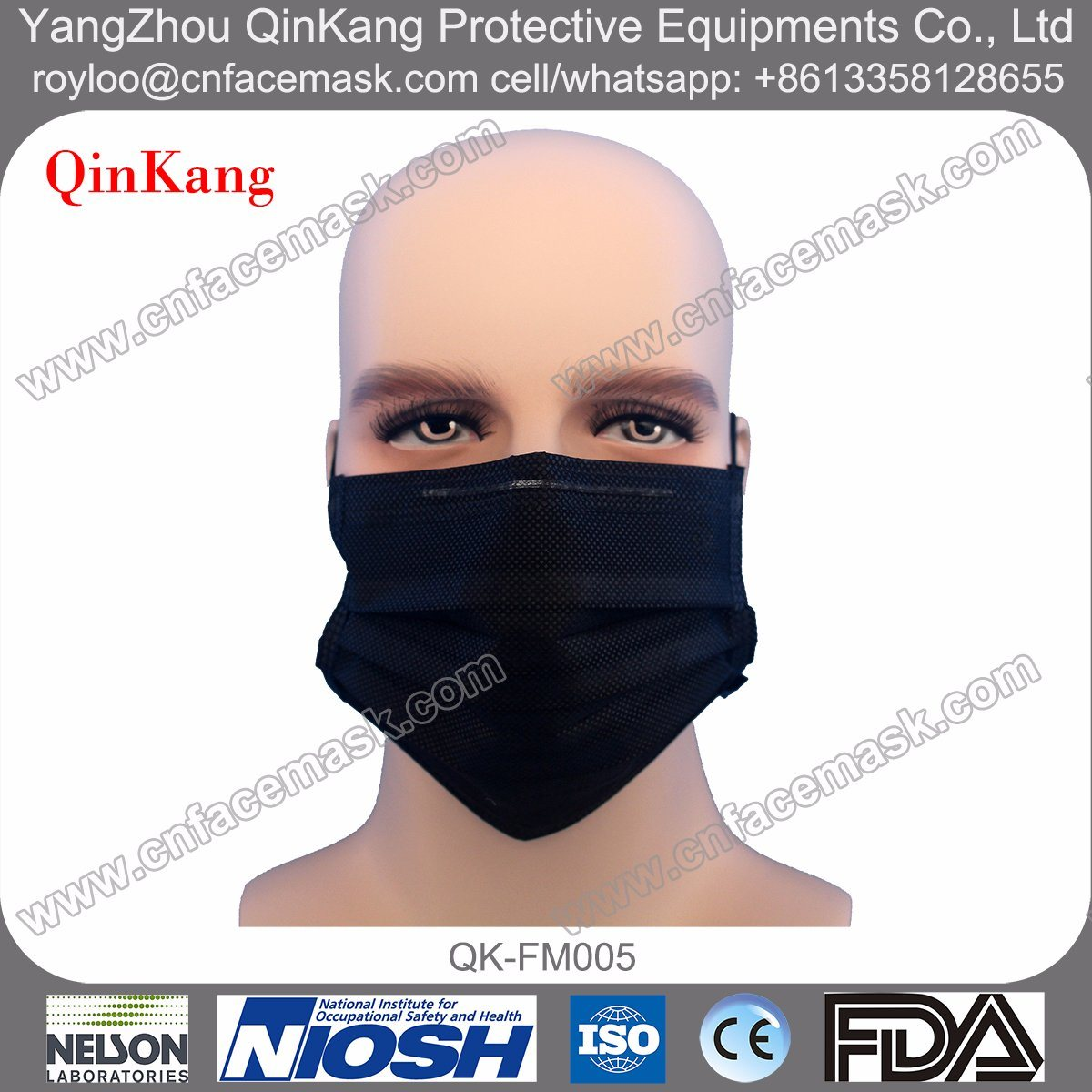 4 Ply Disposable Active Carbon Face Mask with Earloop