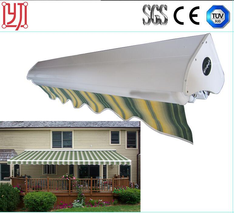 Strong Folding Arm Awning/Folding Arm Retractable Motorized Awnings