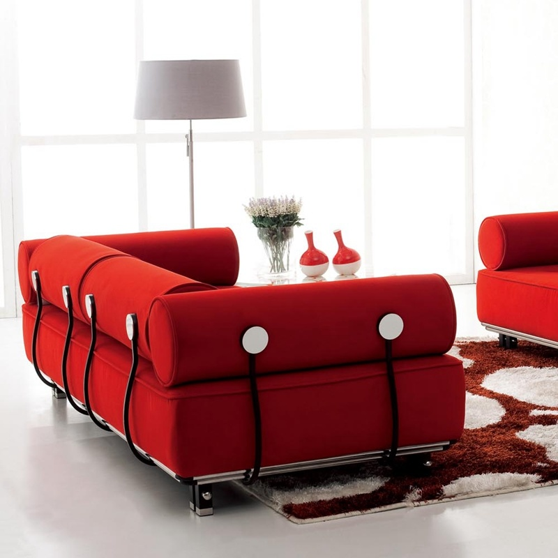 High Quality Living Room Furniture Leisure Rattan Fabric Sofas (F807)