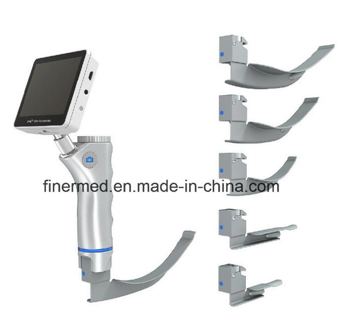 Medical Reusable Rechargeable Battery Video Laryngoscope with Camera
