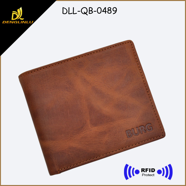 Casual Leather Men Credit Card RFID Wallets