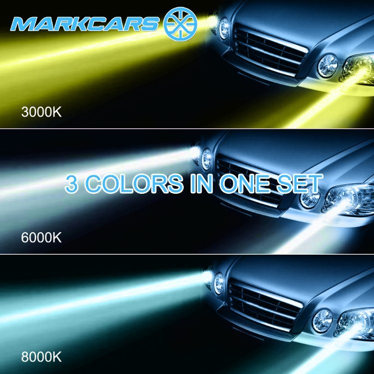 Markcars 3000k 6000k 8000k LED Light Bulb with Philips Chip