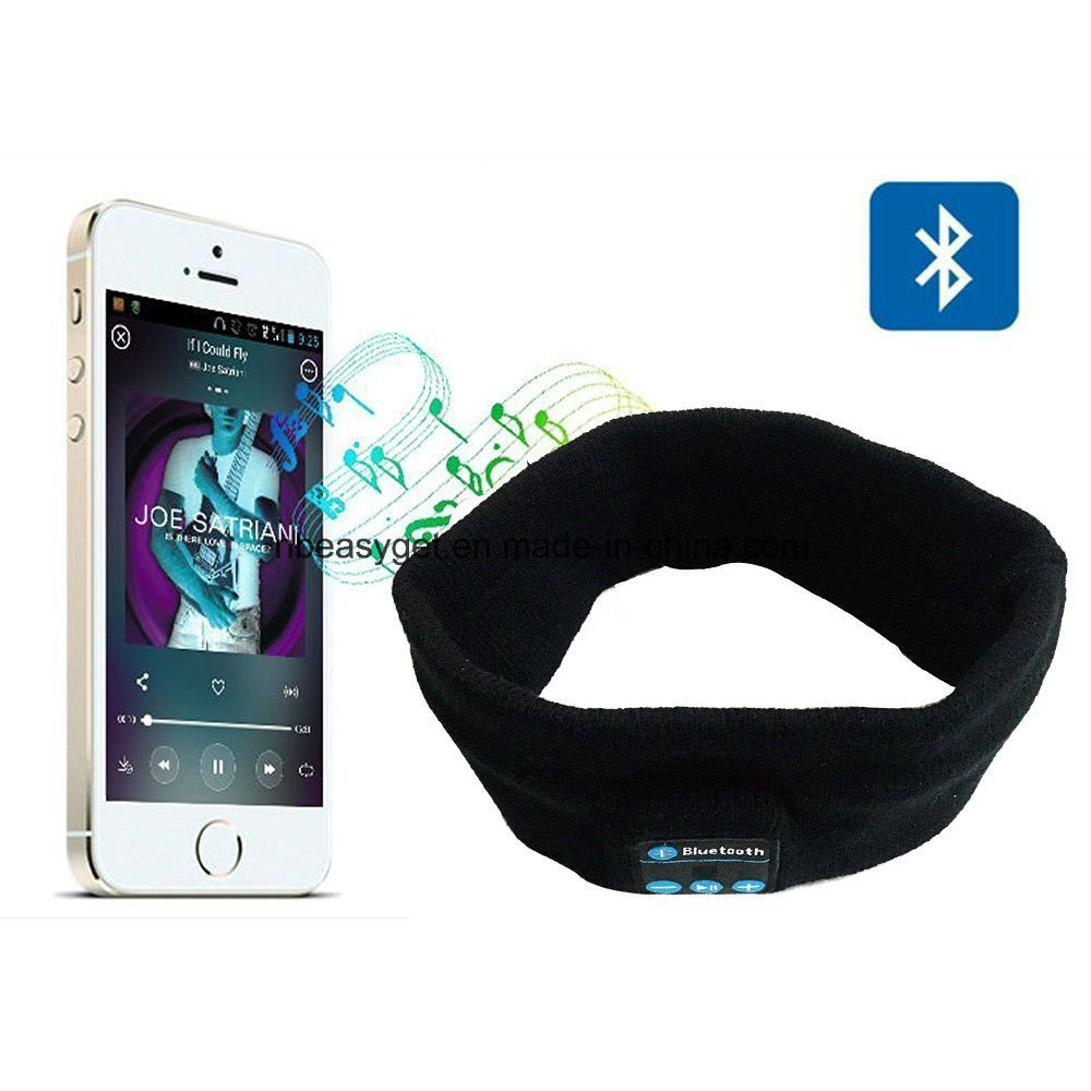 Bluetooth Music Headband, Wireless Bluetooth Stereo Headphones Headset Sport Headband Running Yoga Dancing Headband Grey Black Pink