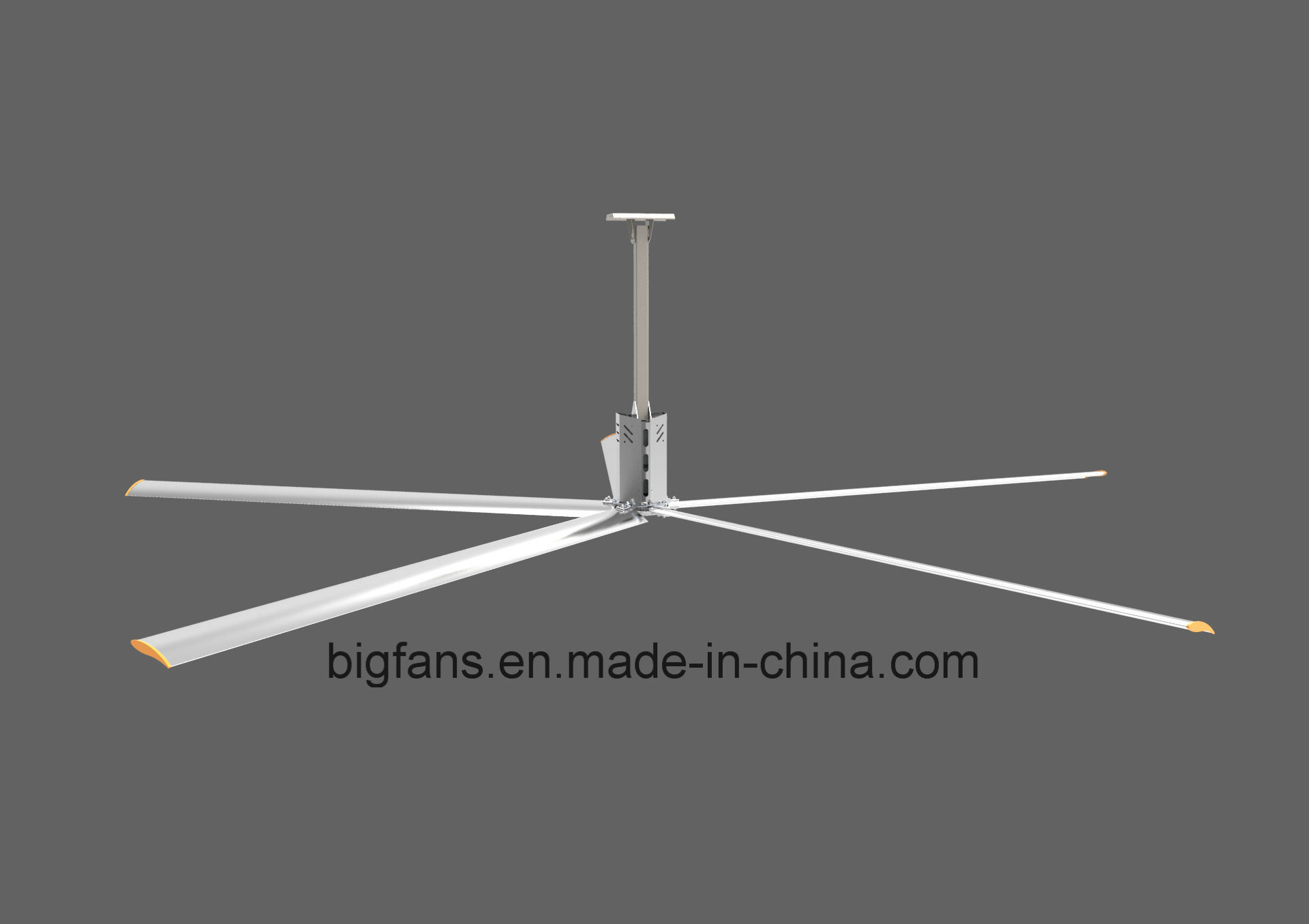 7.4m Diameter Metal Fan Blades Large Hvls Ceiling Fan Malaysia