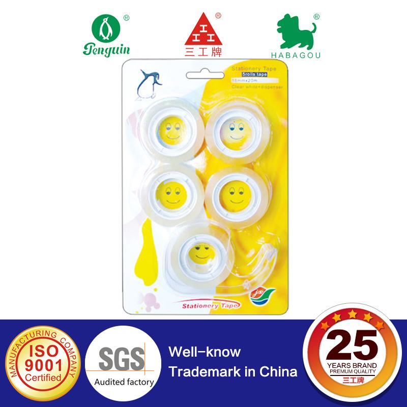 Sell in Auchan Transparent Tape 5 Rolls + Dispenser