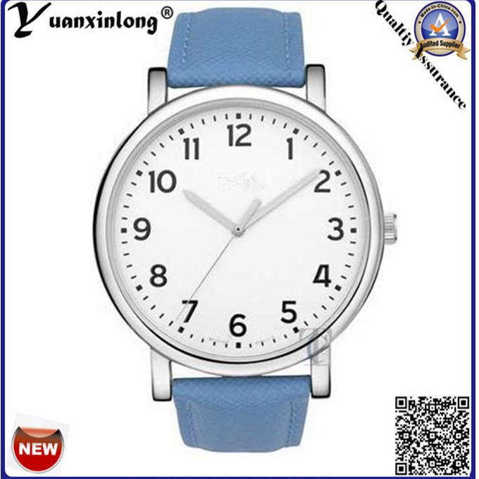 Yxl-143 Fashion Hottest Vogue Ladies Watch Blue Leather Strap Good Quality Quartz Simple Design Lady Wrist Watch Dress Watch
