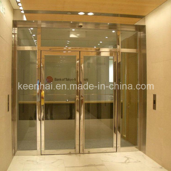 China polished finish stainless steel frame glass door