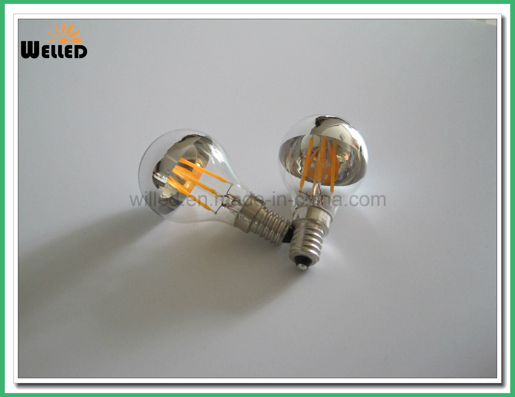 Mirror A60 E27 LED Filament Bulb Light 4W 6W 8W Dimmable 220V 110V