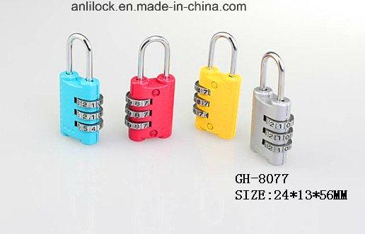 Colorful Combination Padlock, Padlock, Bag Lock (GH-8077)