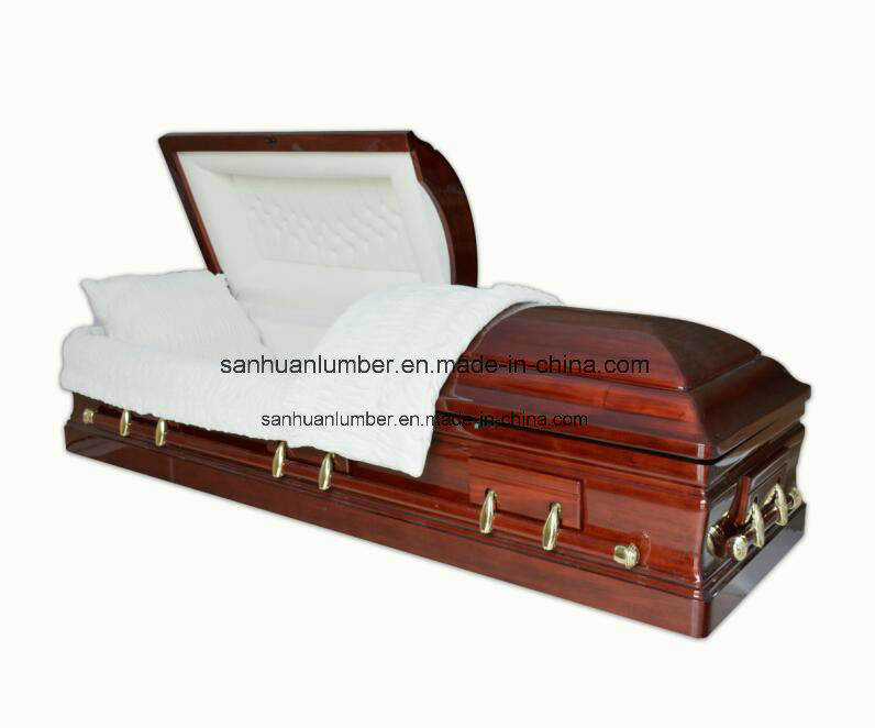 American Solid Wood Funeral Coffin