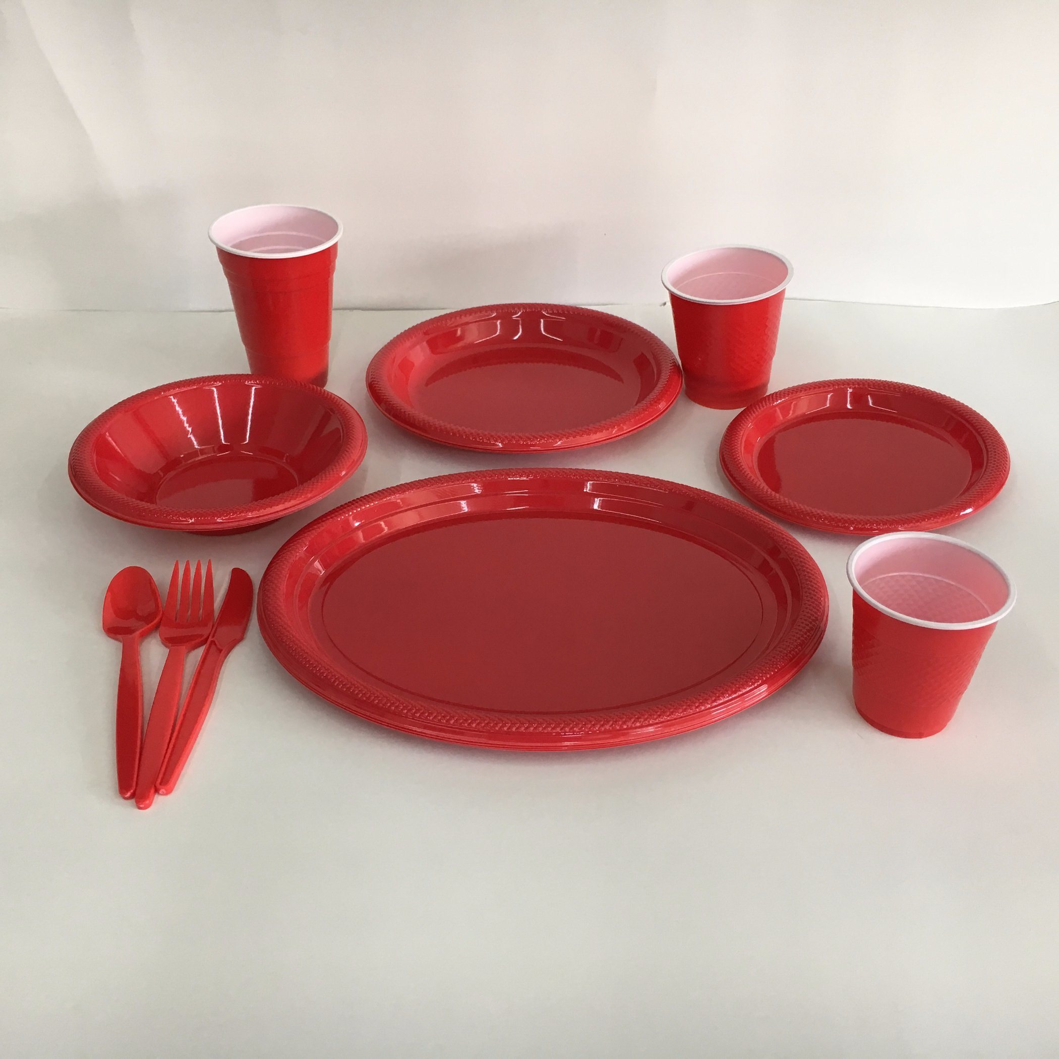Disposable Plastic Solid Colored Party Dinnerware