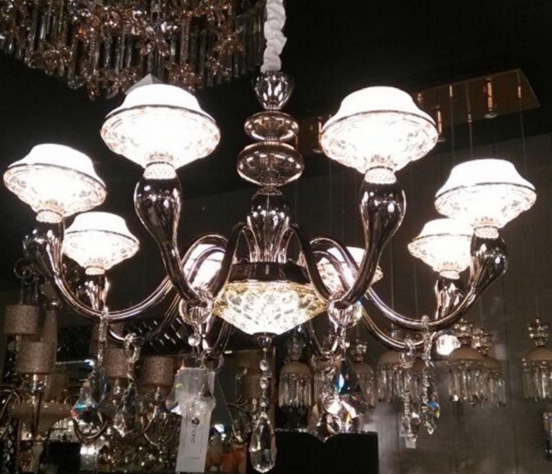 Phine pH1892-6~8~12~15 Arms Modern K9 Crystal LED Pendant Lighting Fixture Lamp Chandelier Light