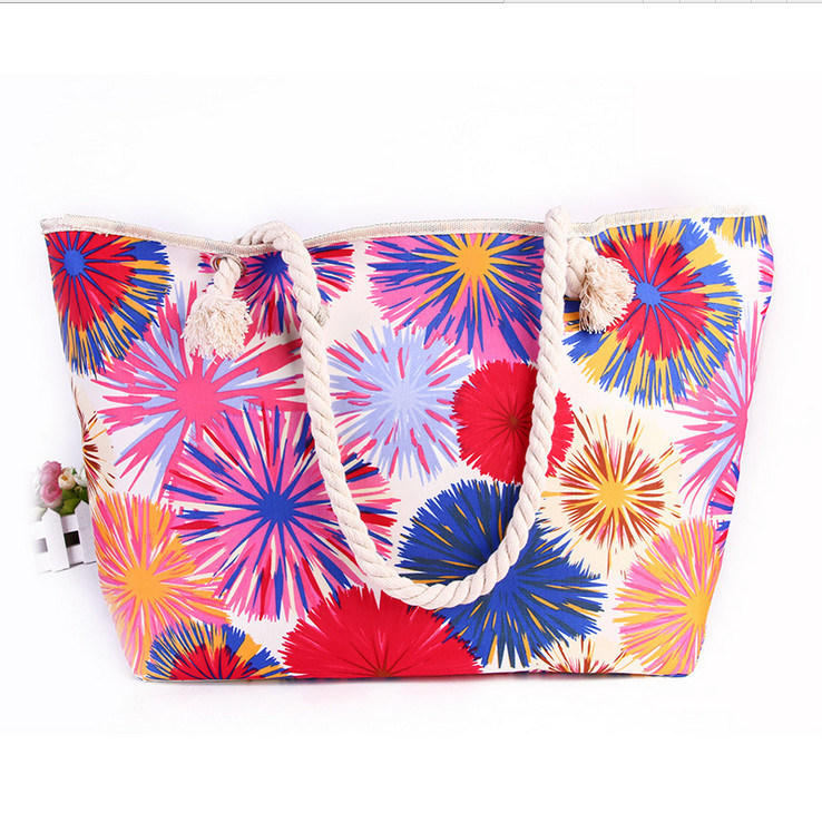 Shoulder Bag Handbags Colorful Sun Printing Beach Bag Trend of Handbags