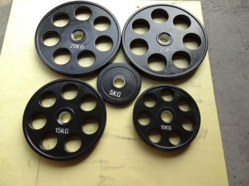 Seven Holes Rubber Coated Weight Plate
