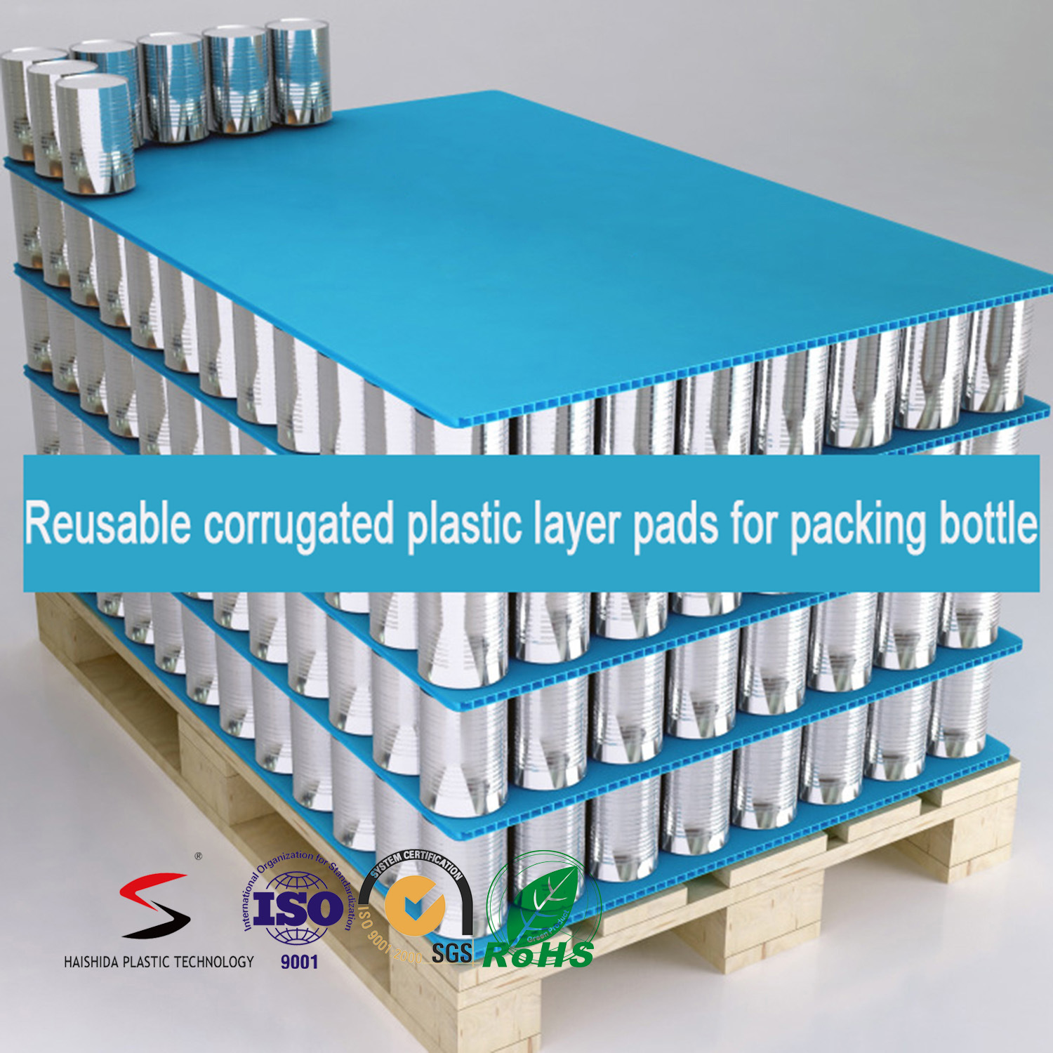 Pads for Bottles PP Corrugated Plastic Layer Pads Packaging Tray Bottle Storage Layer Pad