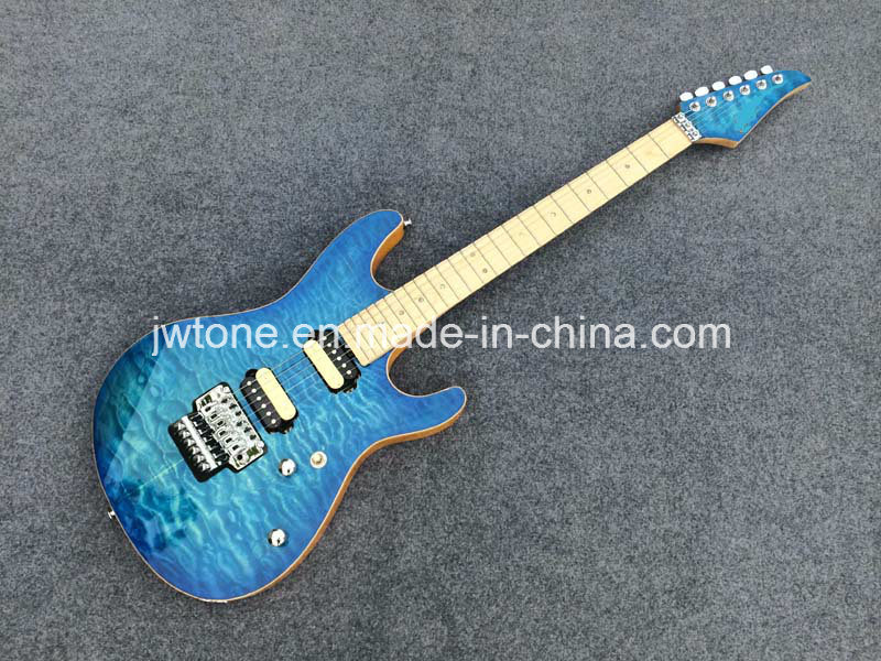 Quilted Maple Top Arched Body Quality Electric Guitar