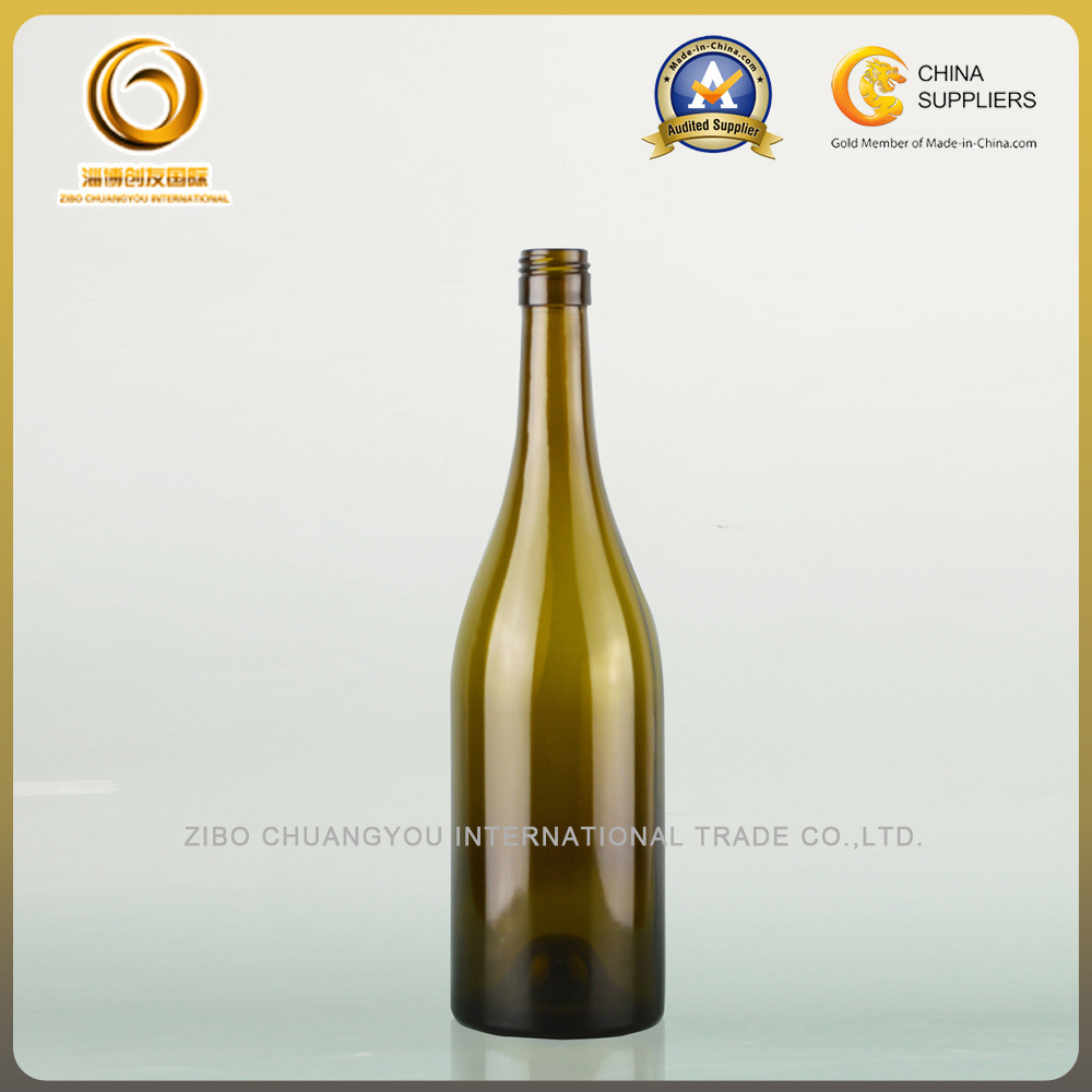 750ml Empty Screw Cap Burgundy Red Wine Bottle (008)