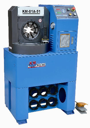 """2"""" Hydraulic Hose/Pipe Crimping Press Machine Superthin Head Easy for Elbow to Go Through"""