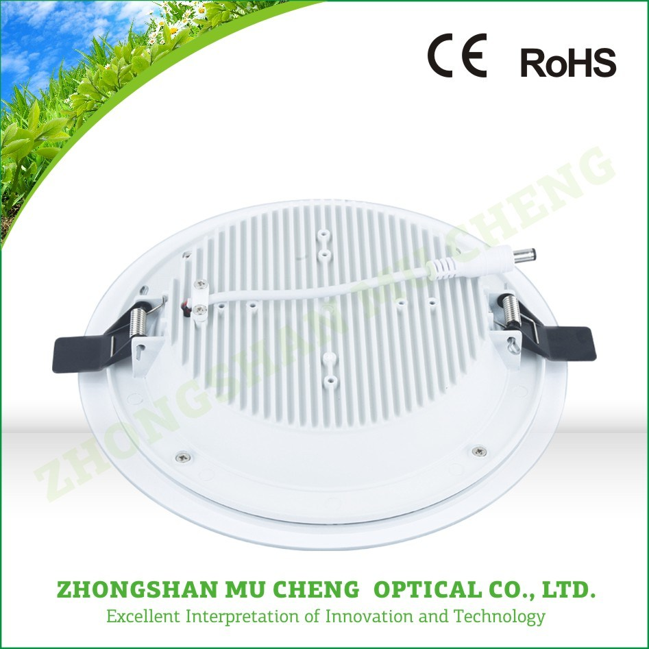 12W Ceiling Light, LED Panel with Glass