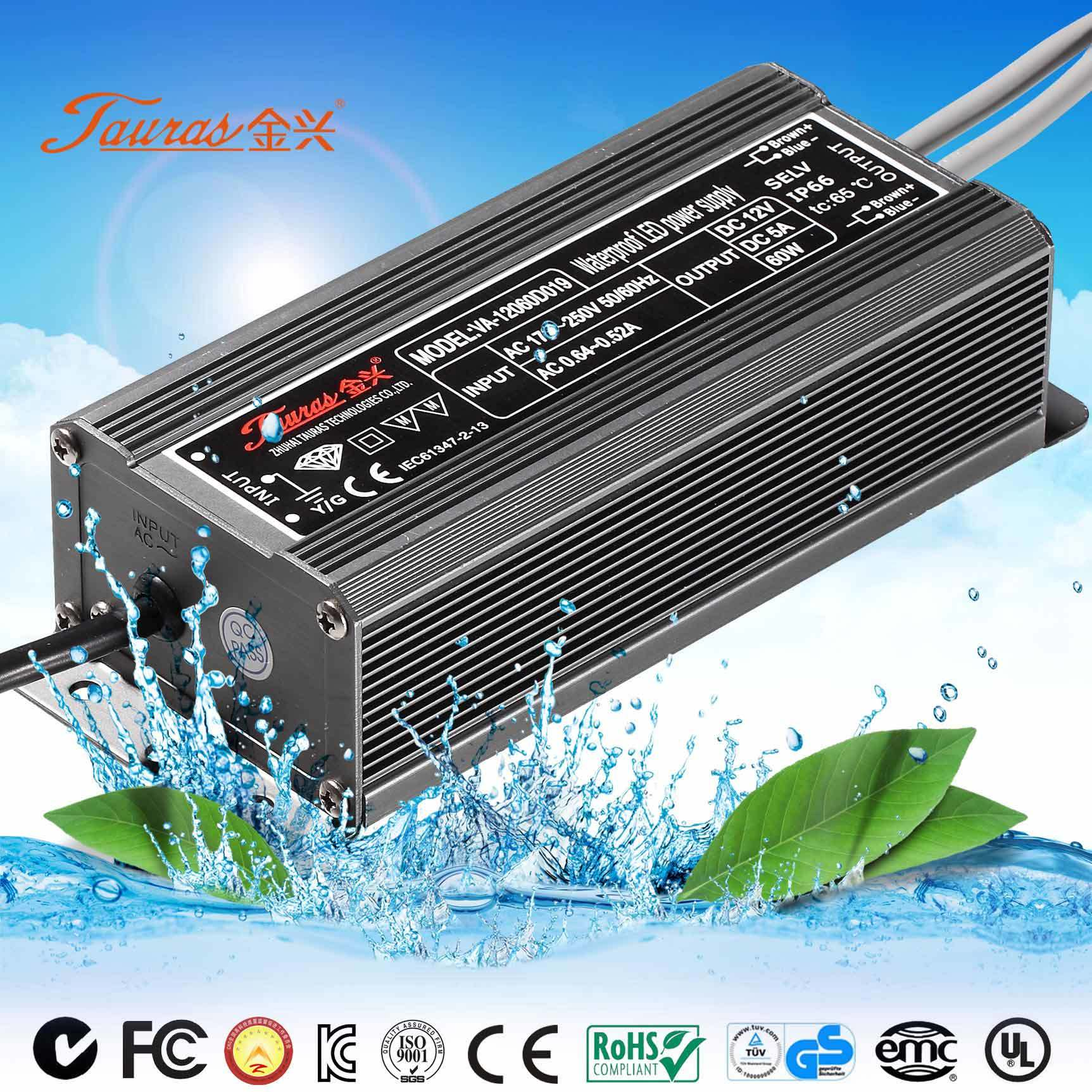 Kc Approval 12V 60W LED Power Supply