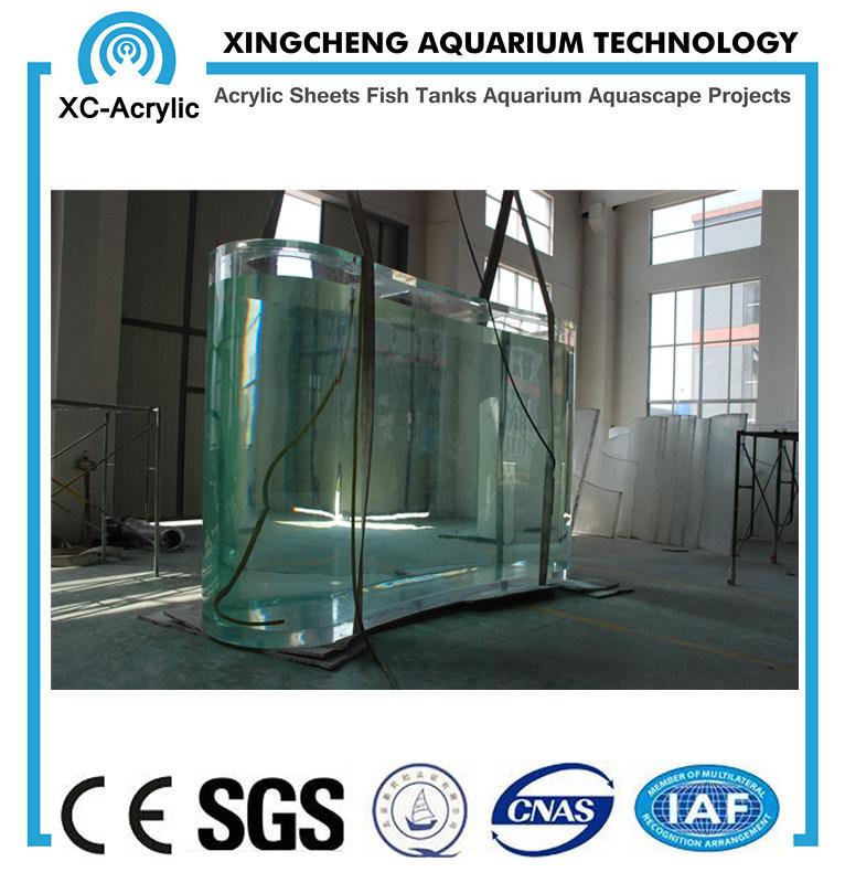 Transparent Large UV Marine Acrylic Fish Tank for Aquarium or Oceanarium