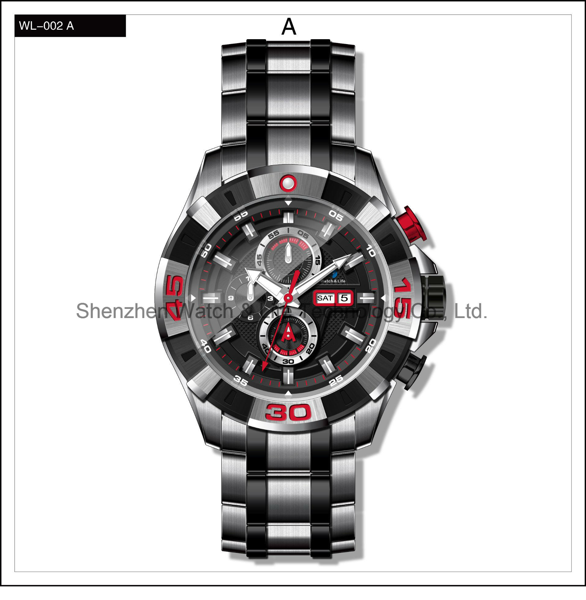 Stainless Steel High Quality Sport Men′s Automatic Watches Wrist Watch