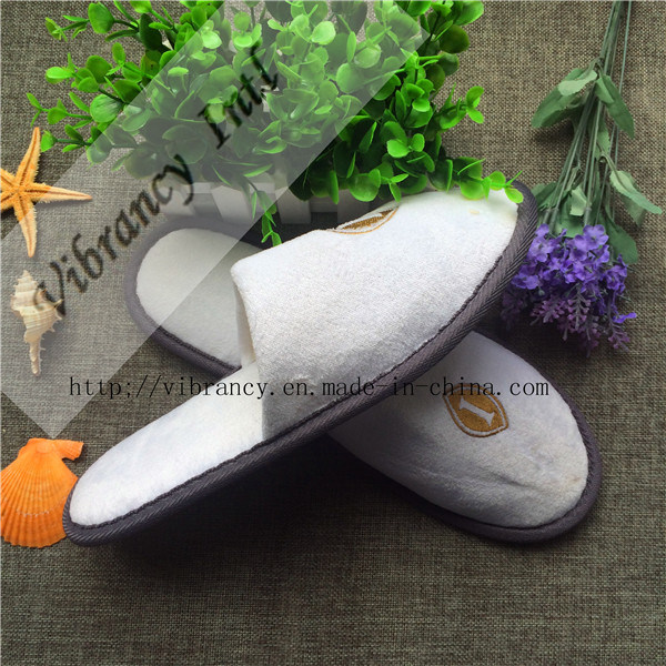 Goood Quality Velvet Disposable Hotel Slippers