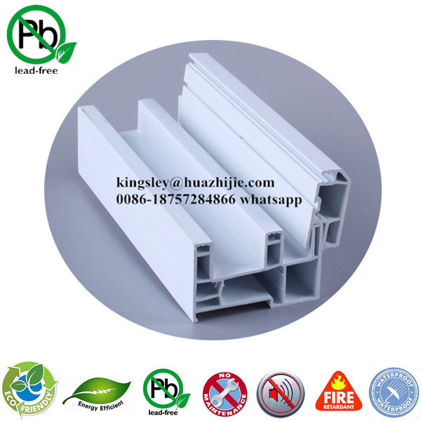 Anti-UV Extruded PVC Profile for Swing and Sliding Window Door