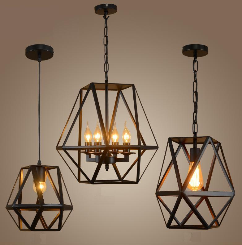 Metal Frame Pendant Lamp (WHP-348)