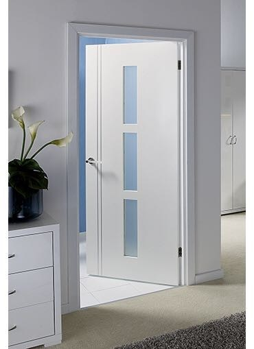 Wooden Bathroom Glazed Door