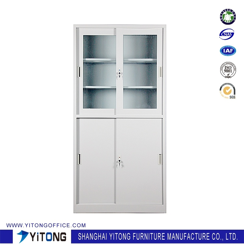 Yitong 4-Door Movable Door Metal Storage Cabinet / Office Use Steel File Cabinet