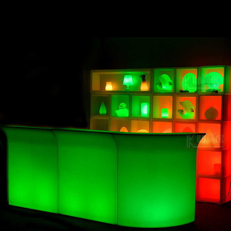 LED Cocktail Bar Serving Station Portable Glowing Bar Counter